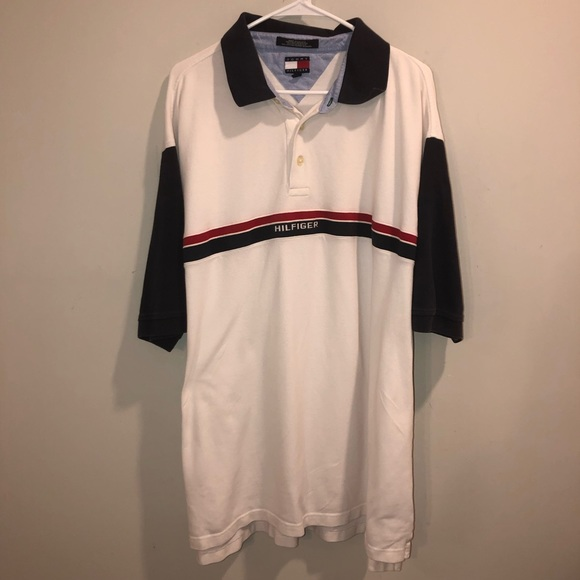 Tommy Hilfiger Spell out polo shirt 2XLT